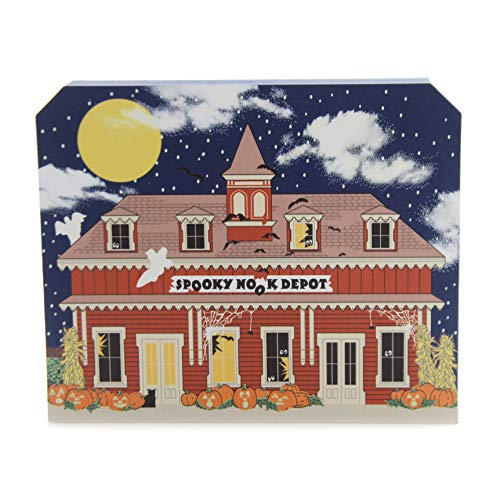 (CATS MEOW VILLAGE Spooky Nook Depot Wood Halloween)