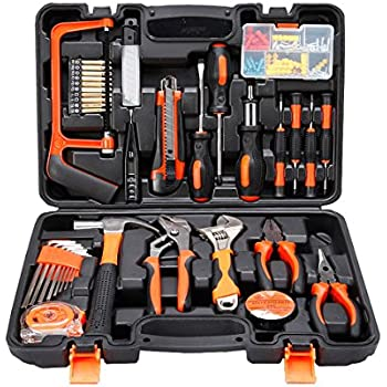 colmax 100pcs home improvement tool kit household repairing mixed tool set with plastic blow. Black Bedroom Furniture Sets. Home Design Ideas
