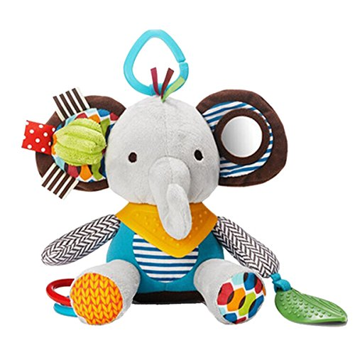 Skip Hop Baby Bandana Buddies Multi-Sensory Soft Plush Toy, Elephant