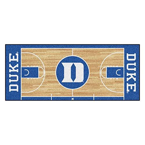 FANMATS 8171 NCAA Duke University Blue Devils Nylon Face Basketball Court Runner , Team Color , 30
