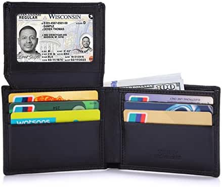 Tonly Monders RFID Blocking Men's Bifold Leather Wallet Slim Front Pocket Card Holder