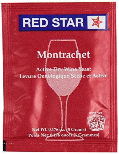 Wine Yeast (10 Packs) Montrachet Red Star for Wine Making (Bulk Wine Yeast compare prices)