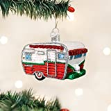 Old World Christmas Travel Trailer Glass Blown Ornament