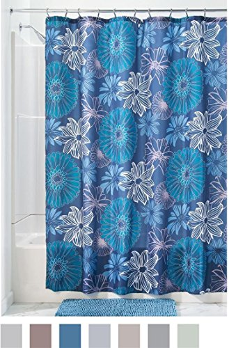 "InterDesign Fabric Shower Curtain, 72"" x 72"" -  - shower-curtains, bathroom-linens, bathroom - 51S4rvXw9iL -"