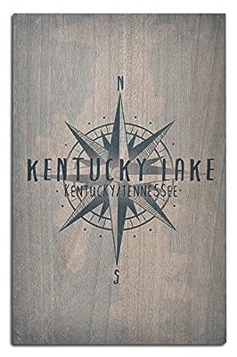 Land Between the Lakes, Kentucky - Lake Essentials - Lake and Compass (Wood Wall Sign, Wall Decor Ready to Hang)