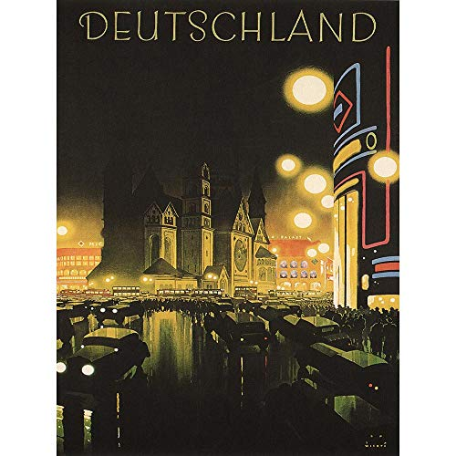 Wee Blue Coo Travel Tourism Berlin Germany Deutschland Vintage Advertising Unframed Wall Art Print Poster Home Decor Premium