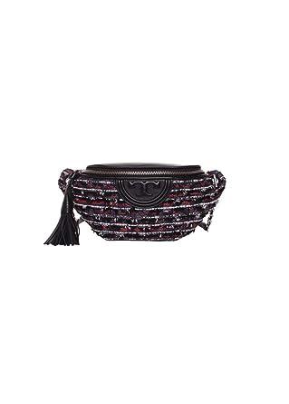 cd9d69bae09b Amazon.com  Tory Burch Fleming Tweed Belt Bag in Boucle Lurex Tweed   Clothing