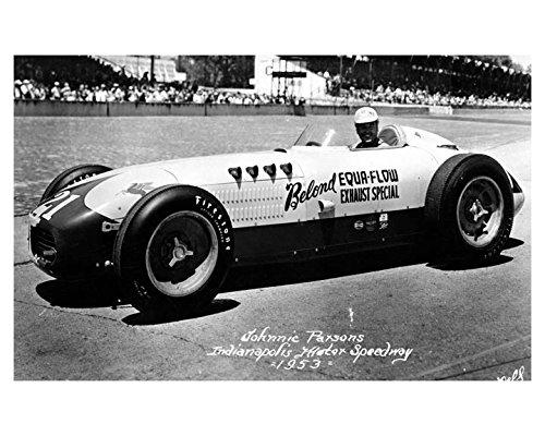 1953 Belond Equa Flow Johnnie Parsons Indy 500 Race Car Photo Poster Flow Race