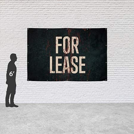 Ghost Aged Rust Heavy-Duty Outdoor Vinyl Banner CGSignLab for Lease 12x8