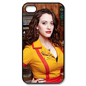 2 Broke Girls iPhone 4,4S Black Phone Case Christmas Gifts&Gift Attractive Phone Case KHUAA523563