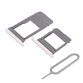 MMOBIEL Set 1 Tarjeta SIM y 1 Bandeja de Tarjeta SD Compatible con Samsung Galaxy A5 / A7 2017 (Rosa) Incl. Sim Pin