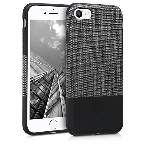 kwmobile Fabric Case for Apple iPhone 7/8 - TPU Protective Cover in Two-Tone Tweed Fabric