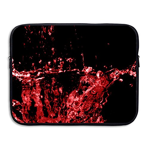 Bxse Abstract Red Splash On A Dark Laptop Bag Liner Bag Computer Sleeve Portable Water Resistant Notebook Liner Package Laptop Pack Tablet Case Computer Accessories For Macbook Air Pro