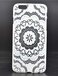 YULIN patrón de flor blanca caja del teléfono material de la PC para el iphone 6