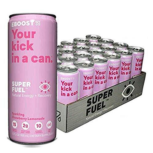 EBOOST Super Fuel Natural Nootropic Energy Drink | Electrolytes + Vitamins (B12) + Milk Thistle | Sports Preworkout…