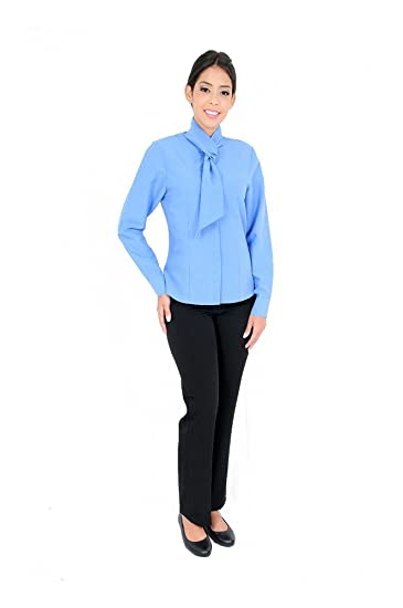 1080e997d8f Image Unavailable. Image not available for. Color  DAM Uniforms Women s  Long Sleeve Microfiber Light Blue Dress Shirt