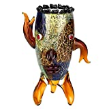 Badash J524 Murano Style Art Glass Vase with a Face, 13''