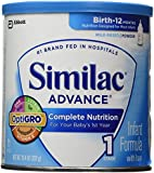 Similac Advance Baby Formula complete nutrition(with Iron stage 1 birth to 12 months)- Powder - 12.4 oz