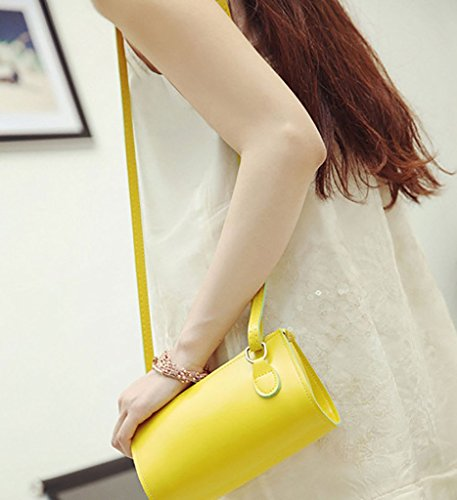 Cross PU Body Women's Bag Soft Leather Yellow Vintage Fashion QZUnique Shoulder Style q10WREwFEn