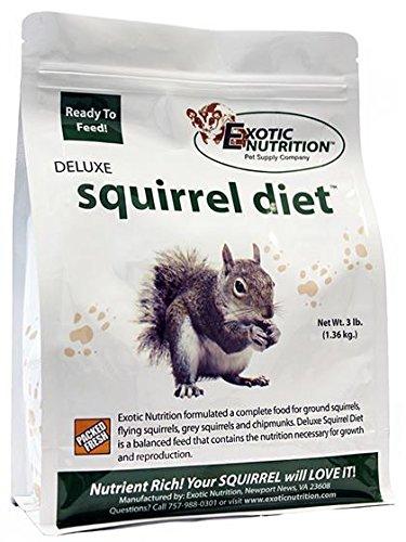 Exotic Nutrition Deluxe Squirrel Diet 3 lb. Prairie Chicken Meal