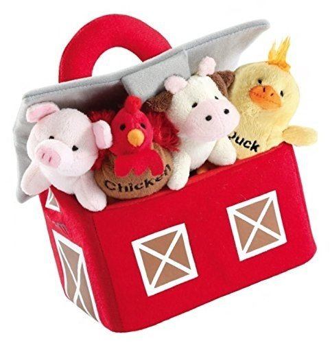 Animal House Barnyard Animals with Sounds Carrier Set Baby Gift | Toddler Gift