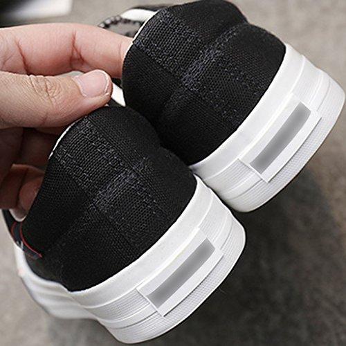 Color tendenza di Scarpe scarpe di Black YaNanHome estate da coreano stoffa Scarpe uomo traspirante basse di Size scarpe tela in stile Espadrillas 34 Bianca 4AqvaUH