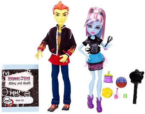 Amazon.es: Monster High - Pareja abominable: Abbey Bominable y Heath Burns/ Thomas Cramé compañeros de cocina (Mattel BBC82): Juguetes y juegos