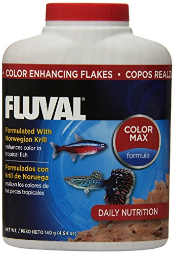 140gm Fluval Color Enhancing Flakes Fish Food, 4.94-Ounce