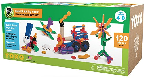 PBS KIDS Build It Kit by YOXO - 120 Pieces - Creative Building Toy System