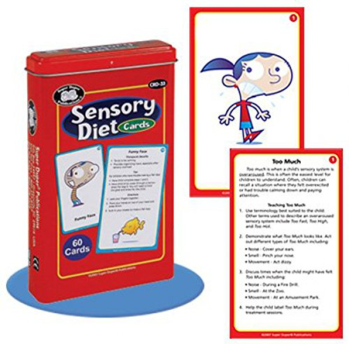 Sensory Diet Behavior and Body Awareness Flash Card Deck - Super Duper Educational Learning Toy for Kids