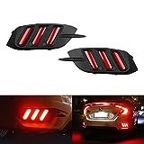 honda civic bumper red - iJDMTOY JDM Fluid Style Red LED Rear Bumper Reflector, Rear Fog Light Kit For 2016-up Honda Civic Sedan (Excluding Hatchback)