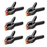 "DREALIN 6-Piece Nylon Spring Clamp 4-1/2"" Clamps Woodworking clamp A type clip Furniture tools (3inch(6pcs))"