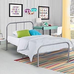 Kingpex Sliver Twin Size Metal Platform Bed