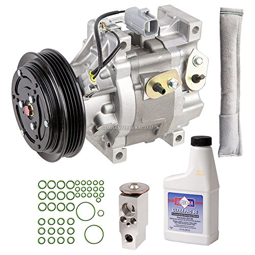 Echo Clutch Kit (New AC Compressor & Clutch With Complete A/C Repair Kit For Toyota Echo - BuyAutoParts 60-81201RK New)