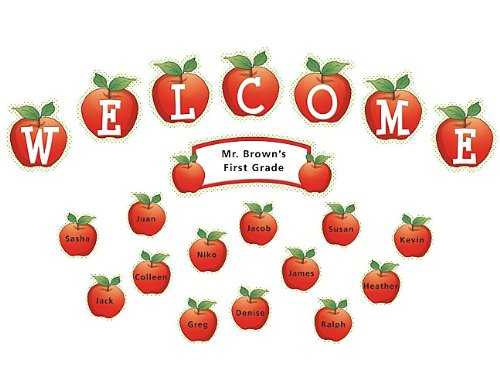 Teacher Created Resources Apples and Dots Welcome Mini Bulletin Board (4781)