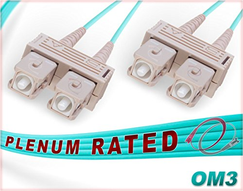 FiberCablesDirect - 35M OM3 SC SC Fiber Patch Cable | Plenum 10G Duplex 50/125 SC to SC Multimode Jumper 35 Meter (114.82ft) | Made In USA | Length Options: 1M-300M | 1/40g sfp+ 10gbase mmf ofnp sc-sc by FiberCablesDirect (Image #5)