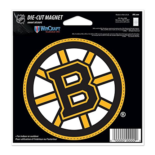 WinCraft Boston Bruins Official NHL 4.5 inch x 6 inch Car Magnet by 285263 by WinCraft