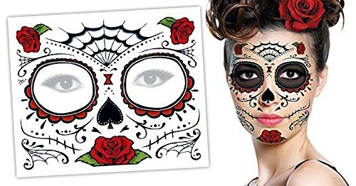 Day of the Dead Halloween Face Tattoos (Dead Makeup)