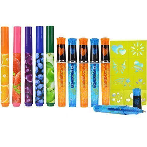Scented Markers Glitter Tattoo Pens