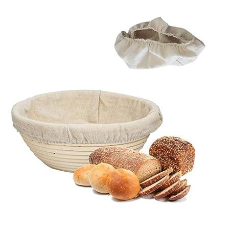 Yiwa - Cestas de Pan, Forma Redonda, de ratán, para banneton, para ...
