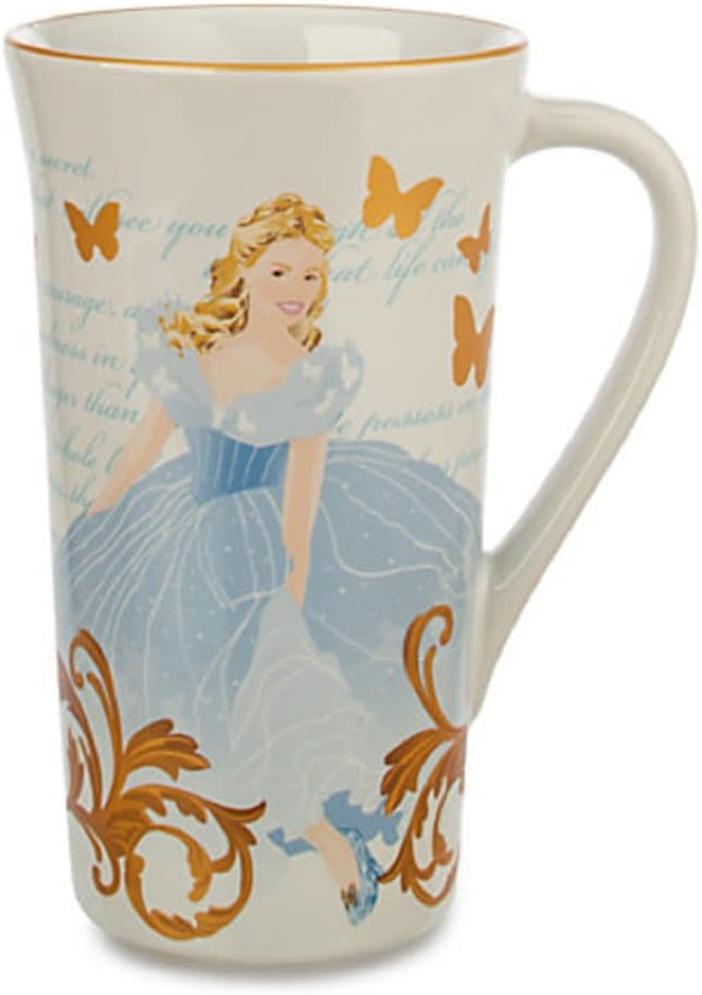 Amazon Com Disney Store Cinderella Coffee Mug Tall Cup Live Action Movie New For 2015 Kitchen Dining
