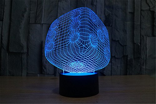 ATC Acrylic LED Abstract Dice 7 Color 3D Desk Lamp USB Smart Touch Button,Suitable for Room Bedroom Decorative