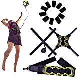 U-picks Volleyball Training Equipment Aids, Non-Interference Durable Solo Serve, Spike and Hitting Trainer -Extra Fingers Sleeves for Beginners & Experts