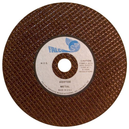 Falcon A60TBE Resinoid Bonded Double Reinforced Abrasive Cut-off Wheel, Type 1, Aluminum Oxide, 1/2