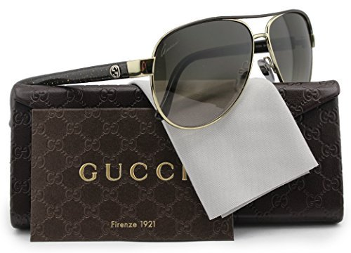 GUCCI GG4239/S Aviator Sunglasses Shiny Gold/Brown w/Brown Gradient (0DYZ) 4239/S DYZ HA 58mm - Gucci 4239 S Sunglasses