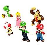 Super Mario Bros Figures - 6 Pcs Set PVC Action Characters Toys