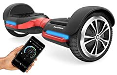 Max out your swag and step on the all new SWAGTRON T580 Bluetooth hoverboard. At only 20 lbs, the self balancing board is both lightweight and sturdy. It easily supports any rider between 44 to 220 lbs, making it ideal for children, teens, an...