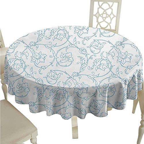 duommhome Floral Spill-Proof Tablecloth Flower Orchids Bohemian Style