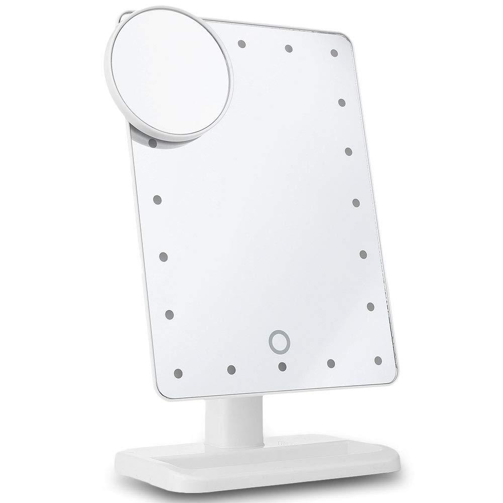Specchio da trucco ingranditore 10x rimovibile