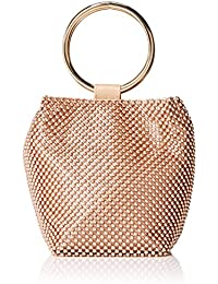 Womens Gwen Ball Mesh Ring Wristlet Pouch Clutch